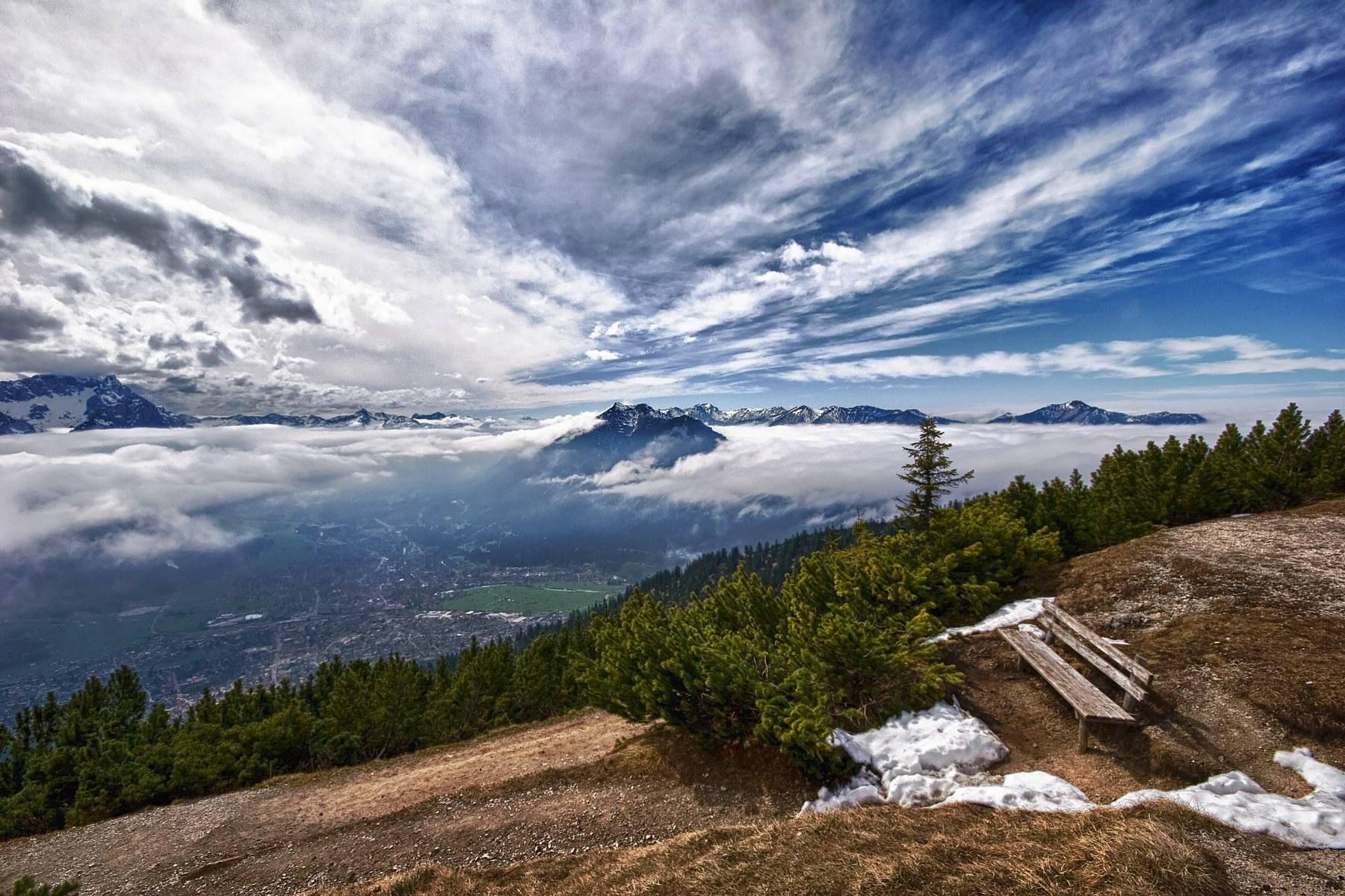 View on Garmisch-Partenkirchen